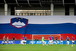 Players of Slovenia at warming up during the UEFA Nations League C Group 3 match between Slovenia and Moldova at Stadion Stozice, on September 6th, 2020. Photo by Vid Ponikvar / Sportida
