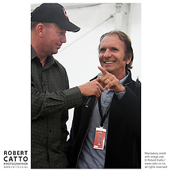 Michael Garlick;Emerson Fittipaldi at the Launch of the Bruce McLaren Movie project at the A1 Grand Prix of New Zealand at the Taupo Motorsport Park, Taupo, New Zealand.