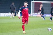 Stevenage forward Jack Aitchison (27) warming up during the EFL Sky Bet League 2 match between Stevenage and Morecambe at the Lamex Stadium, Stevenage, England on 6 February 2021.