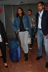 Liya Kebede arriving at Nice Airport ahead of Cannes Film Festival in Nice, France on May 16, 2019. Photo by Julien Reynaud/APS-Medias/ABACAPRESS.COM