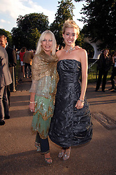 Left to right, VIRGINIA BATES and artist SARAH FRASER at the annual Serpentine Gallery Summer Party in association with Swarovski held at the gallery, Kensington Gardens, London on 11th July 2007.<br />