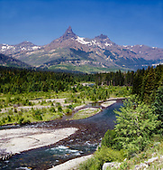 Clarks Fork River, Pilot Peak, Index Peak, Absaroka Beartooth Mountains, Cody WY