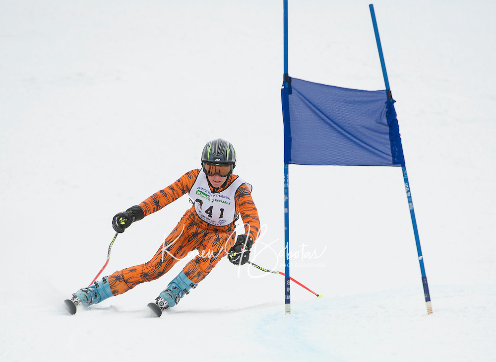 Francis Piche Giant Slalom Mens U14 on Cannonball Saturday, March 14, 2015.   ©2015 Karen Bobotas Photographer