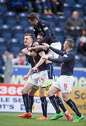 Falkirk's Paul Watson celebrates after scoring their goal. <br /> Falkirk 1 v 0 Morton, Scottish Championship game  played 1/5/2016 at The Falkirk Stadium.