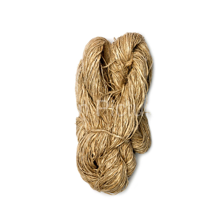 A skein of spliced hemp from Yunnan province, China. Although hemp production is decreasing because land is need for cash crops and manufactured cotton is readily available, it is still grown, spliced and women in remote mountain villages in Yunnan and Guizhou Provinces.
