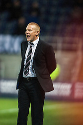 Falkirk's manager Gary Holt.<br /> Falkirk 0 v 5 Aberdeen, the third round of the Scottish League Cup.<br /> ©Michael Schofield.