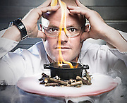 Heston Blumenthal in his lab in Bray, UK