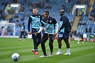 Wycombe Wanderers Forward, Paris Cowan-Hall (12) warming up during the EFL Sky Bet League 1 match between Portsmouth and Wycombe Wanderers at Fratton Park, Portsmouth, England on 22 September 2018.
