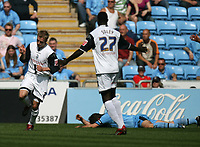 Photo: Rich Eaton.<br /> <br /> Coventry City v Preston North End. Coca Cola Championship. 14/04/2007. Chris Sedgwick left scores the first goal of the game for Preston and celebrates
