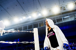 October 21, 2017 - Melsomvik, NORWAY - 171021 Mikaela LaurŽn of Sweden enters the boxing ring during the Oslofjord Fight Night on October 21, 2017 in Melsomvik..Photo: Fredrik Varfjell / BILDBYRN / kod FV / 150032 (Credit Image: © Fredrik Varfjell/Bildbyran via ZUMA Wire)