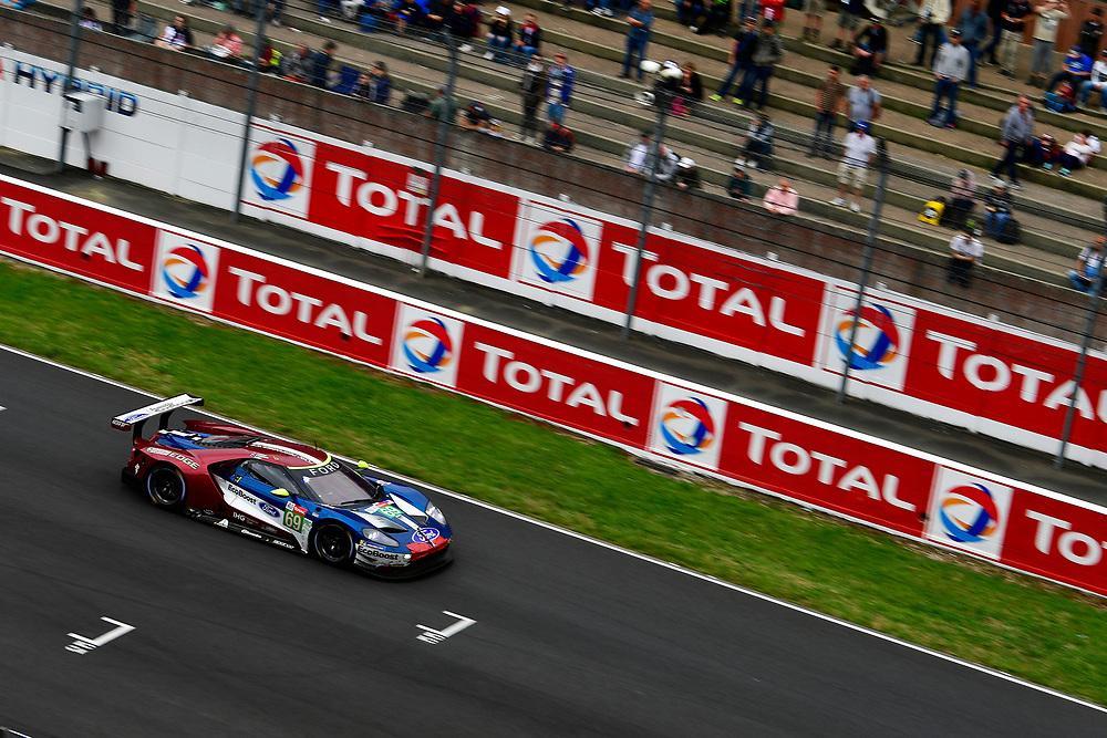 #69 Ford Chip Ganassi Racing Ford GT: Ryan Briscoe, Richard Westbrook, Scott Dixon<br /> Sunday 17 June 2018<br /> 24 Hours of Le Mans<br /> 2018 24 Hours of Le Mans<br /> Circuit de la Sarthe  FR<br /> World Copyright: Scott R LePage
