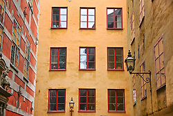 Colourful Building Exterior in Stockholm's Old Town, Gamla Stan