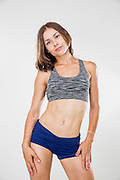Fitness, sport, training women in sport clothing in studio on white background Model Release available