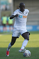 Modou Barrow in action for Swansea city. Pre-season friendly match, Barnet v Swansea city at the Hive in London on Wednesday 12th July 2017.<br /> pic by Steffan Bowen, Andrew Orchard sports photography.