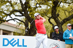 March 23, 2018 - Austin, TX, U.S. - AUSTIN, TX - MARCH 23: Jon Rahm tees off during the third round of the WGC-Dell Technologies Match Play on March 23, 2018 at Austin Country Club in Austin, TX. (Photo by Daniel Dunn/Icon Sportswire) (Credit Image: © Daniel Dunn/Icon SMI via ZUMA Press)