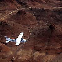 Africa, Namibia, Damaraland. Flying over the landscape of Damaraland in Namibia.