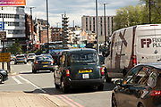 As the coronavirus restrictions continue the process of easing, more traffic begins to come to the city centre on 18th May 2021 in Birmingham, United Kingdom. After months of lockdown, the first signs that life will start to get back to normal begin, with more people enjoying the company of others in public, as the rule of six starts the first stage of lockdown ending.