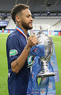 Neymar Jr of PSG celebrates winning the French cup following the French Cup final football match between Paris Saint-Germain (PSG) and Saint-Etienne (ASSE) on Friday 24, 2020 at the Stade de France in Saint-Denis, near Paris, France - Photo Juan Soliz / ProSportsImages / DPPI