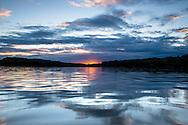 Sunset over Vaughn Lake<br /> Glennie, Michigan