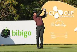 Oct 19, 2018-Jeju, South Korea-JASON DAY of Australia action on the 13th tee during the PGA Golf CJ Cup Nine Bridges Round 2 at Nine Bridges Golf Club in Jeju, South Korea.
