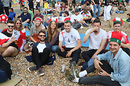 Stag Do's seem to be a favourite time during the Brighton Big Screen Events match showing at Madeira Drive, Brighton between England and Russia at Stade Velodrome, Marseille, France on 11 June 2016. Photo by Stuart Butcher.