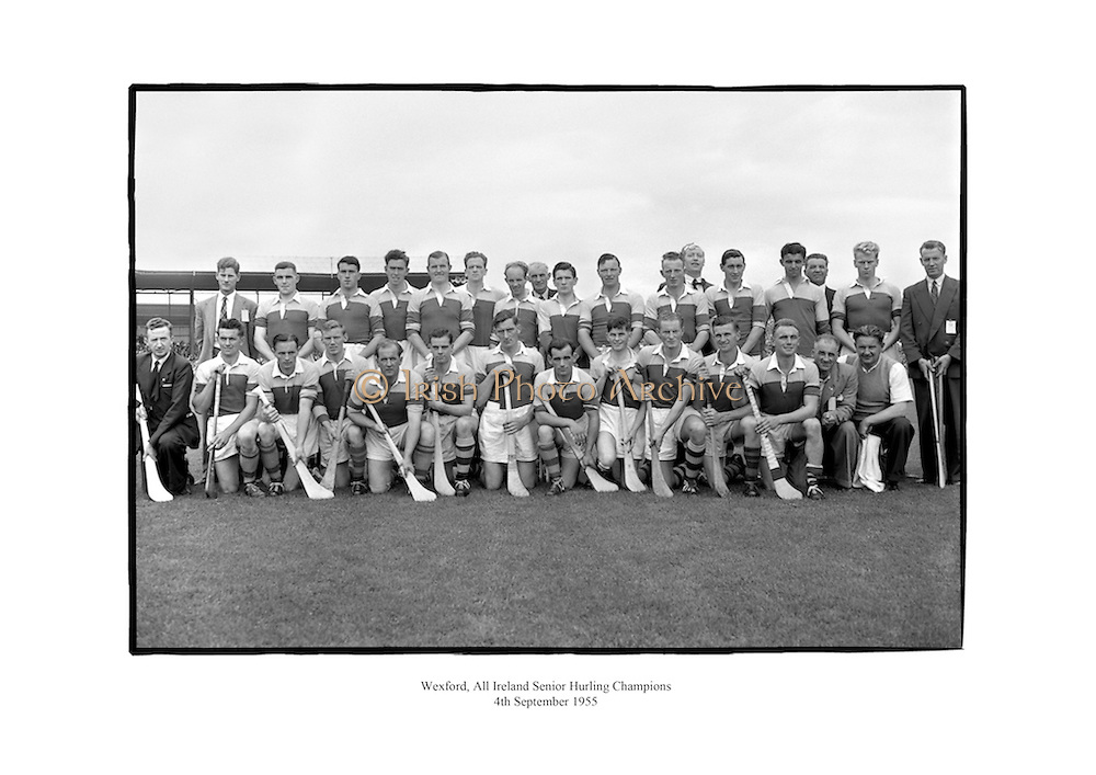Wexford, All Ireland Senior Hurling Champions.<br /> <br /> 4th September 1955<br /> 04/08/1955