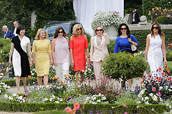 Brigitte Macron, wife of French President Emmanuel Macron, U.S. First Lady Melania Trump , Akie Abe, wife of Japan's Prime Minister Shinzo Abe, Chile's First Lady Cecilia Morel, Jenny Morrison, wife of Australia's Prime Minister Scott Morrison, Malgorzata Tusk, wife of European Council President Donald Tusk and Adele Malpass, wife of World Bank President David Malpass pose in the garden of the Villa Arnaga, House-museum of Edmond Rostand, during a visit on traditional Basque culture in Combo-les-Bains, near Biarritz as part of the G7 summit, August 25, 2019. Photo by Thibaud Moritz/ABACAPRESS.COM