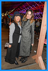 Left to right, EVA LONGORIA and MEL C at the Hyde Park Winter Wonderland - VIP Preview Night, Hyde Park, London on 17th November 2016.