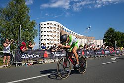 07.07.2019, Klagenfurt, AUT, Ironman Austria, Radfahren, im Bild Daniel Bækkegard (DAN) // Daniel Bækkegard (DAN) during the bike competition of the Ironman Austria in Klagenfurt, Austria on 2019/07/07. EXPA Pictures © 2019, PhotoCredit: EXPA/ Johann Groder