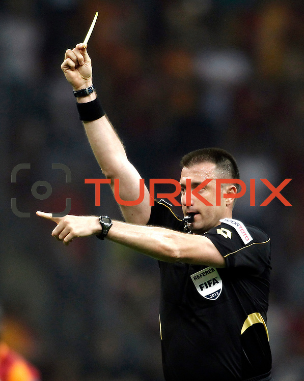 Referee's Huseyin Gocek during their Turkish superleague soccer derby match Galatasaray between Trabzonspor at the AliSamiYen spor kompleksi TT Arena in Istanbul Turkey on Saturday, 18 May 2013. Photo by Aykut AKICI/TURKPIX