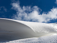 Doing a good impression of a mirror-image of teahupoo, this perfect wave was formed by snow-drifts on the Isle of Wight