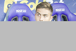 September 1, 2018 - Parma, Italy - Juventus forward Paulo Dybala (10) waits on the bench during the Serie A football match n.3 PARMA - JUVENTUS on 01/09/2018 at the Ennio Tardini in Parma, Italy. (Credit Image: © Matteo Bottanelli/NurPhoto/ZUMA Press)