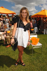 MELISSA DEL BONO at the final of the Veuve Clicquot Gold Cup 2007 at Cowdray Park, West Sussex on 22nd July 2007.<br /><br />NON EXCLUSIVE - WORLD RIGHTS