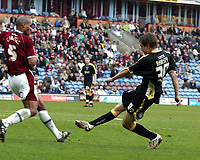 Photo: Paul Greenwood/Richard Lane Photography. <br />Burnley v Cardiff City. Coca-Cola Championship. 26/04/2008. <br />Cardiff City's Aaron Ramsey scores the second goal