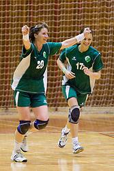 Vesna Pus and Mirjana Gojkovic at last 10th Round handball match of Slovenian Women National Championships between RK Krim Mercator and RK Olimpija, on May 15, 2010, in Galjevica, Ljubljana, Slovenia. Olimpija defeated Krim 39-36, but Krim became Slovenian National Champion. (Photo by Vid Ponikvar / Sportida)