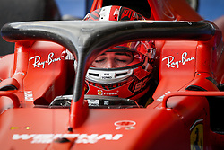 September 1, 2019, Spa-Francorchamps, Belgium: Scuderi Ferrari driver CHARLES LECLERC of Monaco reacts after winning his first Formula One race, the Grand Prix of Belgium. (Credit Image: © Hoch Zwei via ZUMA Wire)