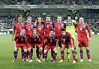 Football - International Friendly - Republic Of Ireland vs. Czech Republic<br /> <br /> The Czech Republic team, , at Aviva Stadium, Dublin.