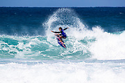 Kai Lenny of Hawaii advances to round 2 after finishing second in round 1 heat 8 at the WSL 2019 Volcom Pipe Pro at Pipeline, Oahu, Hawaii, USA