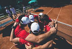 Igralci TK Triglav Kranj, Finale Telemach 1. moske clanske lige med TK Triglav Kranj in TK Terme Ptuj,  on June 27, 2021 in Kranj, Slovenia. Photo by Vid Ponikvar / Sportida