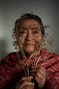 Portrait of my grandmother María Luisa Jaque holding the carrot seeds that we will sow in the garden. July 7, 2020. Quito-Ecuador.Johis Alarcón