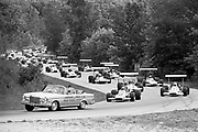 Pace lap of one heat (of 3) during the 1970 Road America F5000 event