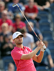 USA's Kyle Stanley tees off the 3rd during day three of The Open Championship 2018 at Carnoustie Golf Links, Angus. PRESS ASSOCIATION Photo. Picture date: Saturday July 21, 2018. See PA story GOLF Open. Photo credit should read: Richard Sellers/PA Wire. RESTRICTIONS: Editorial use only. No commercial use. Still image use only. The Open Championship logo and clear link to The Open website (TheOpen.com) to be included on website publishing.