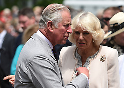 The Prince of Wales and the Duchess of Cornwall during a visit to Wellington Farmer's Market, located on the shore of Lake Ontario, during day two of their visit to Canada.