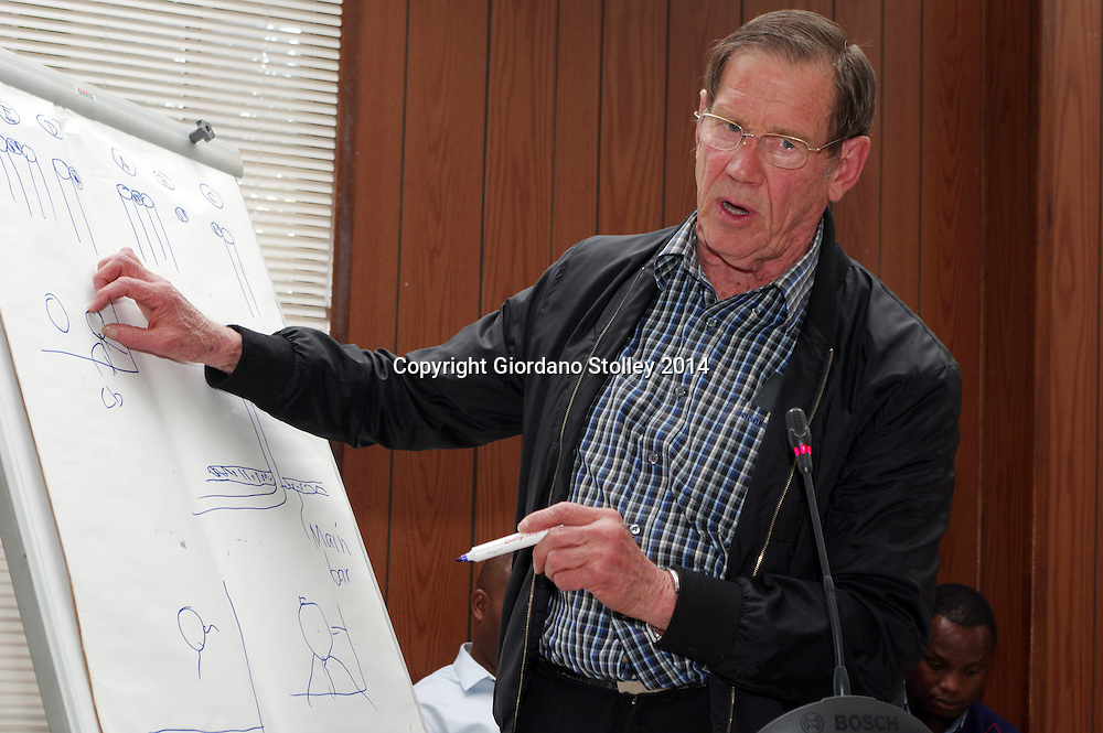 DURBAN - 4 September 2014 - Dr Piet Pretorius, an expert engineer gives testimony regarding the consuting engineer's design for the Tongaat Mall Inquiry. The mall collapsed in November, injuring 29 and killing two. Picture: Allied Picture Press/APP