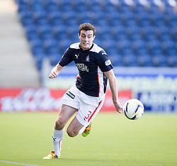 Falkirk's Joe Shaughnessy. <br /> Falkirk 2 v 1 Alloa Athletic, Scottish Championship game played 4/10/2014 at The Falkirk Stadium.