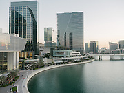 View over the Abu Dhabi marina bay from the Four Seasons Hotel.