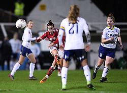 Chloe Logarzo of Bristol City Women is marked by Marisa Ewers of Aston Villa Women - Mandatory by-line: Ryan Hiscott/JMP - 13/01/2021 - FOOTBALL - Twerton Park - Bath, England - Bristol City Women v Aston Villa Women - FA Continental Cup quarter final