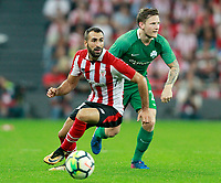 Athletic Club de Bilbao's Mikel Balenziaga (l) and Panathinaikos FC's Mattias Johansson during Europa League Play-off, 2nd leg. August 24,2017. (ALTERPHOTOS/Acero)