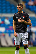Bournemouth midfielder Ryan Christie (10) during the pre-match warm-up before the EFL Sky Bet Championship match between Cardiff City and Bournemouth at the Cardiff City Stadium, Cardiff, Wales on 18 September 2021.