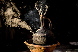 Coffee permeates the cultural fabric of Ethiopian life, and is celebrated daily in coffee ceremonies. A clay pot is used to boil and brew the coffee. Ethiopia is one of only two producing countries that drink more than half of what they grow.